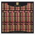"Traditional Tartan 14"" Deluxe Christmas Crackers 6 per pack"