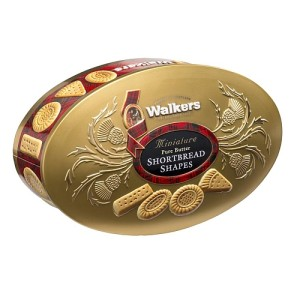 Walkers Pure Butter Shortbread Shapes Mini Gold Tin 175g
