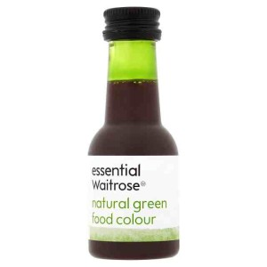 Natural Green Food Colouring essential Waitrose 38ml