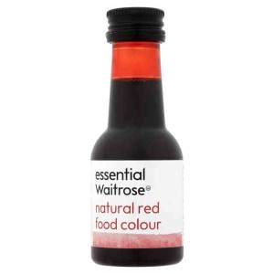 Natural Red Food Colouring essential Waitrose 38ml