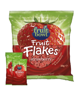 Fruit Bowl Strawberry Fruit Flakes 20g pack