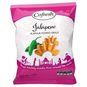 Cofresh Mild And Tangy Jalapeno Potato Grills 80g