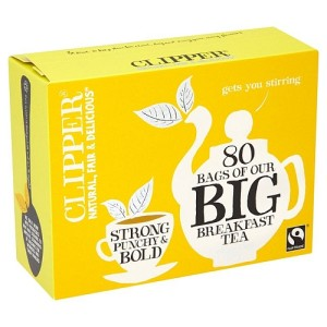 Clipper Fairtrade Big Breakfast Tea 80 per pack