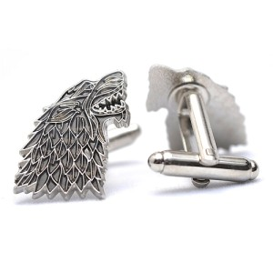 Game Of Thrones Dire Wolf House Stark Sigil Cufflinks in Gift Box