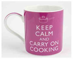 Keep Calm and Carry On Cooking Gift Boxed Mug