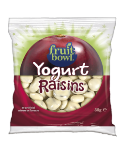 Fruit Bowl Yogurt Raisins 25g pack