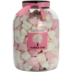 Mallow Tree Strawberry Hearts Marshmallows 1.1Kg