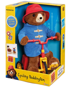 Peddaling to The Music Paddington Soft Toy 35cm Tall