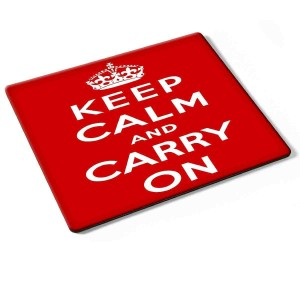 """Keep Calm and Carry On"" Mouse Mat"