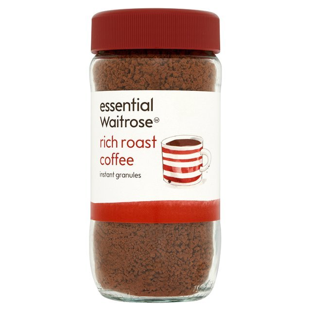 rich roast coffee granules essential waitrose 100g british. Black Bedroom Furniture Sets. Home Design Ideas