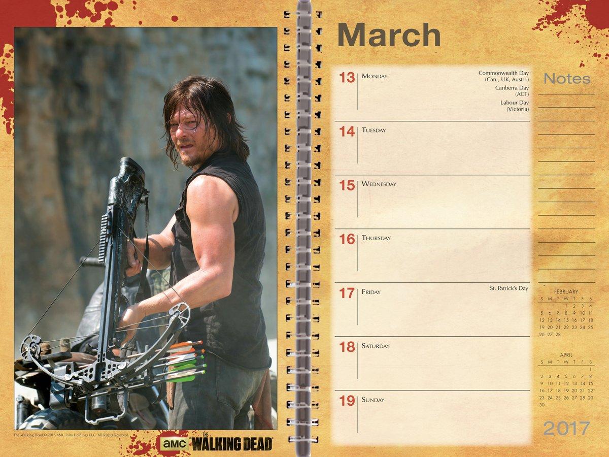 Official Walking Dead 2017 Weekly Desk Diary Calendar 3 Jpg