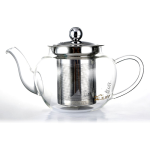 Clear Glass Heat Resistant Teapot with Infuser 600ml