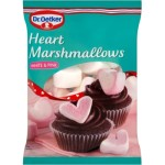 Dr. Oetker Heart Marshmallows White & Pink 100g