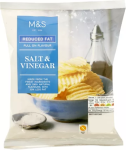 M&S Reduced Fat Salt & Vinegar Crisps 150g