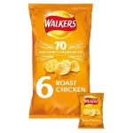 Walkers Roast Chicken Crisps 25g x 6 per pack