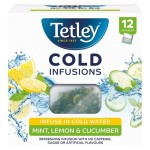 Tetley Cold Infusions Cucumber Mint & Lemon 12 Infusers