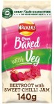 Walkers Baked Beetroot with Sweet Chilli Jam Snacks 140g