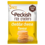 Peckish Cheese Gluten Free Rice Crackers 5 x 20g