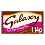 Galaxy Cookie Crumble Chocolate 114g