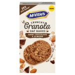 McVitie's Dark Chocolate & Almond Granola Oat Bakes Biscuits 140g
