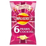 Walkers Prawn Cocktail Crisps 6 x 25g