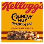 Kellogg's Crunchy Nut Granola Bars, Chocolate & Nuts 4 x 32g