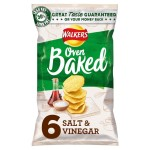 Walkers Baked Salt & Vinegar Snacks 6 x 25g