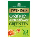 Twinings Orange & Lotus Green Tea 20 per pack
