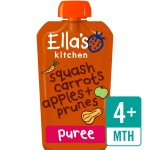 Ella's Kitchen Organic Butternut Squash, Carrots, Apples & Prunes Stage 1 120g
