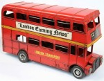 Metal Routemaster Double Decker Bus 31 x 10 x 17cm