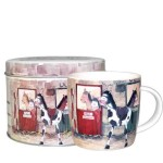Alex Clark Ponies Fine China Mug in Tin