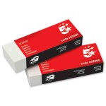 5 Star Office Plastic Eraser Paper-sleeved - single