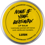 Lush None of Your Beeswax Lip Balm 12g
