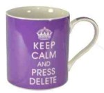 Keep Calm and Press Delete Mug , Gift Boxed