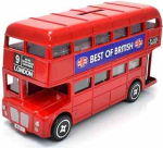 Large Red London Bus Money Box