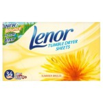 Lenor Tumble Dryer Sheets Summer Breeze 34 per pack