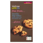 Waitrose LOVE life gluten free chocolate chip cookies 150g