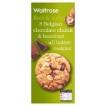 Waitrose 8 Belgian chocolate & hazelnut cookies 200g