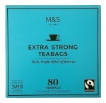 Marks & Spencer Extra Strong 80 Teabags No 3 Strong