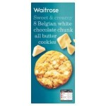 Waitrose 8 Belgian white chocolate cookies 200g