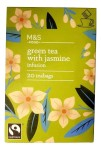 Marks & Spencer Organic Green Tea with Jasmine Infusion 20 Teabags