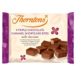 Thorntons Triple Chocolate Caramel Shortcakes 9 per pack