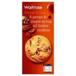 Waitrose 8 pecan & maple syrup cookies 200g