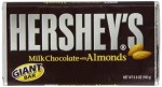 Hershey's Milk Chocolate with Almonds Giant Bar 192g