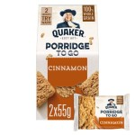 Quaker Porridge To Go Squares Cinnamon 2 x 55g