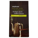 Rich Italian Blend Coffee Beans Dark Roast Strength 5 Waitrose 227g