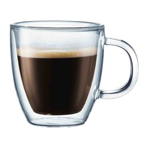 Bodum Bistro Double Wall Glass Mugs - set of 2
