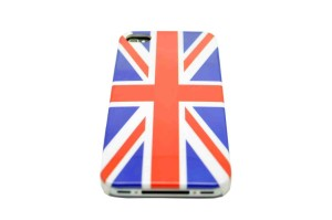 Apple iPhone 4/4S Union Jack British Flag Slim Fit Shield Cover Back Protector And Quality Screen Protector Set