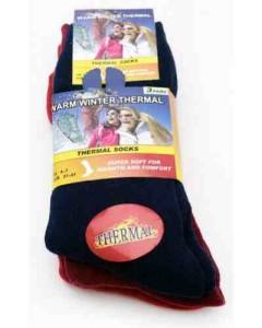 Thermal Socks 3 Pack Size 37-42