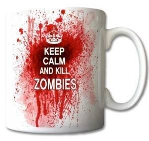 Keep Calm and Kill Zombies Ceramic Mug 300ml